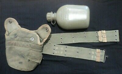 American Army Water Canteen with Case and Australian Belt Military