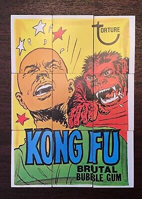 1974 Topps Wacky Packages 8th Series 8 KUNG FU Complete Puzzle