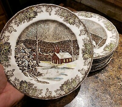 Johnson Brothers Friendly Village Dinner Plates and bowls (11) The Schoolhouse
