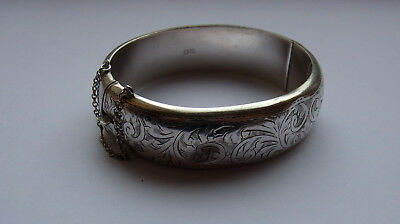 Antique Sterling Silver Bangle / Bracelet - Joseph Smith, Chester 1947 - 29.4g