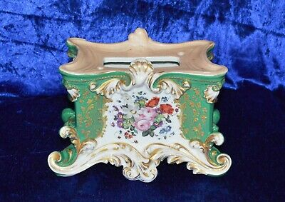Antique Jacob Petit Hand Painted Porcelain Clock Stand