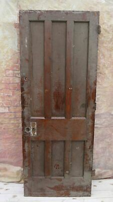 X3o3/17 (30 x 77) 1930's Period Old Reclaimed 3 over 3 Pitch Pine Door York