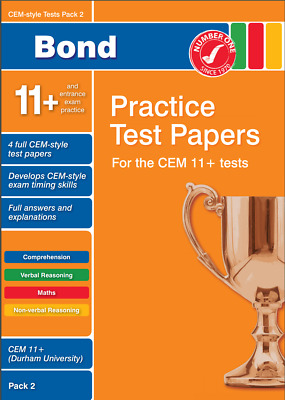 11+ Eleven Plus CEM Bond Test Papers (Mock Exams) (Electronic) Pack 2