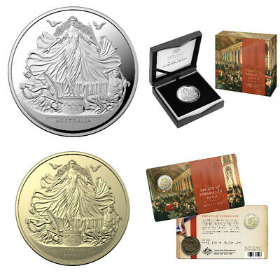2019 Centenary of Treaty of Versailles two coin set -$5 Silver & $1 AlBr Coin