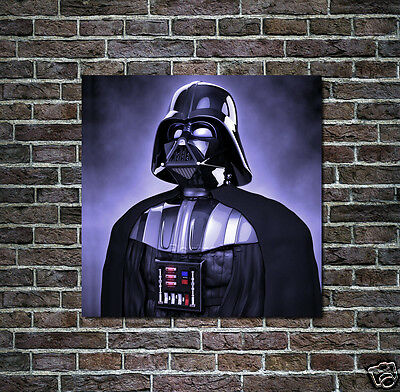 Star Wars Oil Painting Darth Vader Portrait Hand-Painted Art Canvas NOT a Print