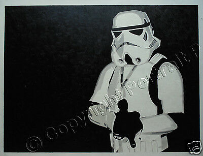 Star Wars Oil Painting Stormtrooper Canvas Hand-Painted NOT a Print Poster #2