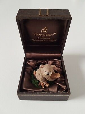 Koala miniature figurine in box by Country Artists made in UK