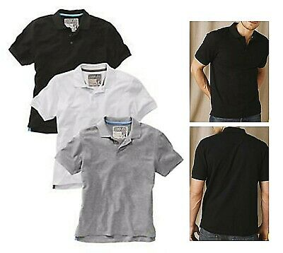 Brooker Cotton Polo Shirt Mens T-Shirt With Collar Small Gray white Black