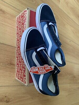 VAN Old Skool Skate Shoes Black/White All Size Classic Canvas UK6.5