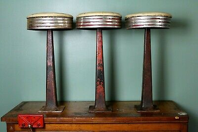 Sensational Vintage Cast Iron Soda Fountain Stools Swivel Seats Alphanode Cool Chair Designs And Ideas Alphanodeonline