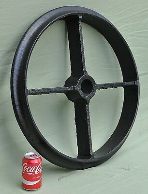 "Vintage 24"" 4 Spoke Cast Iron Roller Wheel"