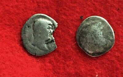 Ancient Roman or Greek Coins - Lot of 2 Silver Coins, Unidentified