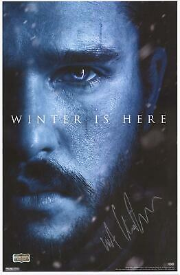 "Kit Harington Game of Thrones Signed 12"" x 18"" Jon Snow Winter Is Here Poster"