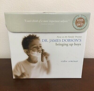 Focus On The Family Dr. James Dobson's Bringing up Boys Video Seminar DVD & VHS