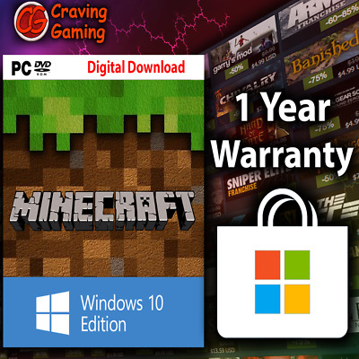 Minecraft Windows 10 Edition, PC, CD KEY Only, No BOX, Activation Key Only