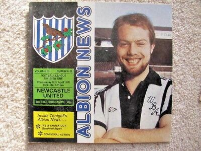 WEST BROMWICH ALBION v NEWCASTLE UNITED 1977-78 LEAGUE DIVISION ONE PROGRAMME