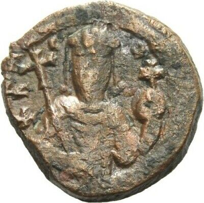 Diplomatic Byzantine Empire Constantine X Ducas With Eudocia Jesus Christ Ae 29 Nice Coin Coins & Paper Money