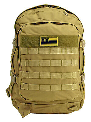 f7e06aa57 EastWest Military MOLLE Duty Pack Tactical Backpack TAN Survival Hike Hunt*