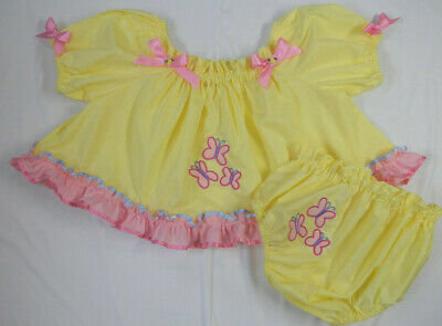 Adult Baby Sissy Littles MLP FLUTTERSHY CROP TOP Diaper Cover Dress Up 2 pc Set