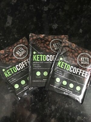 Keto Coffee It Works Mct/collagen/soy Free. 3 X Packets