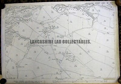Old Ordnance Survey Detailed Maps Bacup Lancashire 1909 Sheet 72.11 New