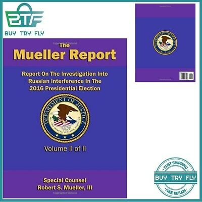 Report On The Investigation Into Russian Paperback Robert S. Mueller III Book 2