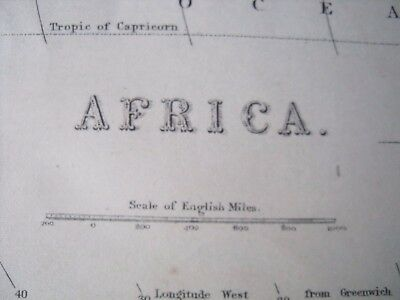 AFRICA c.1880s colour MAP