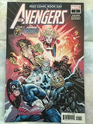 Avengers #1 FCBD 2019 Savage Avengers Marvel Unstamped Free Comic Book Day NM