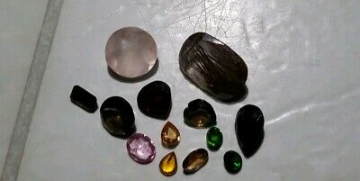 Faceted Rhodalite Garnet Chrome Diopside, Sapphires, Tourmaline And More 23.30Ct