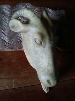 Large Ancient Roman Carved Stone Ram - finest work, a sweet,  Rare find.