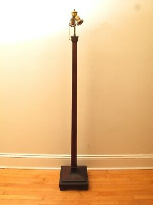 """Fabulous Antique Arts & Crafts Large Floor Lamp Base Victorian 67"""" Tall"""
