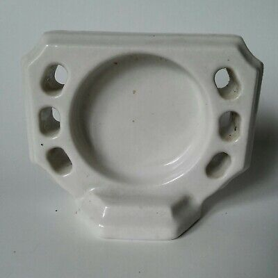 Vintage Porcelain Wall Mounted Toothbrush & Cup Holder