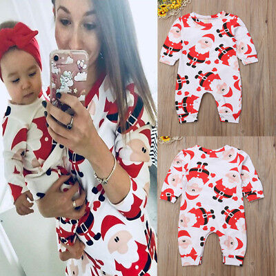 e96c7f201 New Toddler Baby Boy Girl Santa Claus Romper Jumpsuit Bodysuit Outfits  Clothes