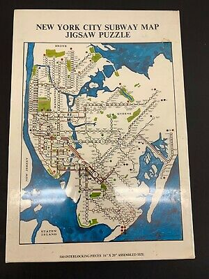 Vintage New York City Subway Map.Vintage Boston Subway Map 500 Pieces Jigsaw Puzzle 16 X20 In Tin