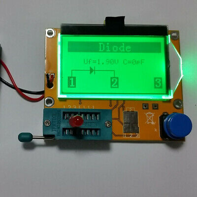 LCD Display Meter Diode Component Tester Transistor Mosfet Capacitor Resistor