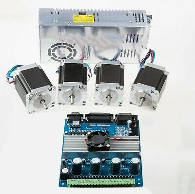4 Axis Nema 23 Kit (4pcs Stepper Motors 4-Axis Driver Board 200W Power Supply)