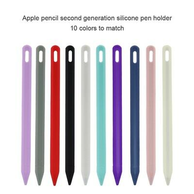 Silicone Rubber Cover Sleeve Grip Case For Apple iPad Pro Pencil 2nd Generation