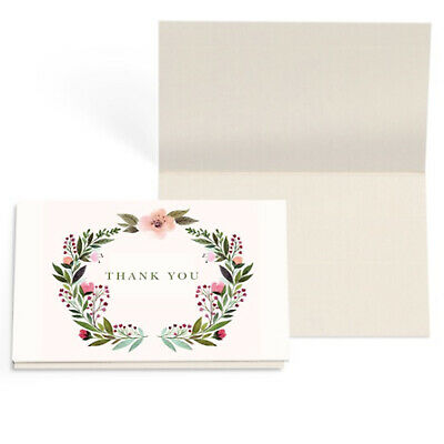 24x Blank Thank You Cards Cardstock 10x6.5CM Wedding Party Envelope Place Card