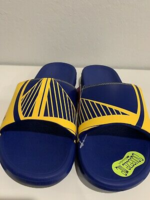 size 40 a9651 6275a Nike Benassi Solarsoft NBA Golden State Warriors Slide Sandal Size 7 917551  701