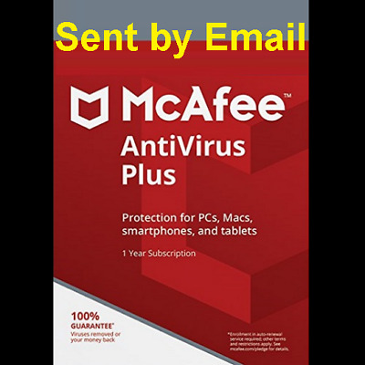 Mcafee total  protection Antivirus+Firewall  2019 1 Device 1 Year New or Renewal