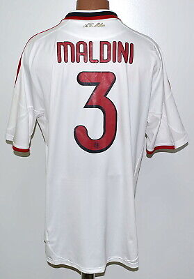 Ac Milan 2009/2010 Away Football Shirt Jersey Adidas #3 Maldini Size Xl Adult