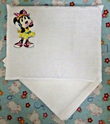 New Minnie Mouse toy pram cot bed sheet and pillow set baby doll teddy bear