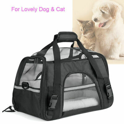 Pet Carrier Soft Sided Cat / Dog Comfort Travel Tote Bag Airline Approved Crates