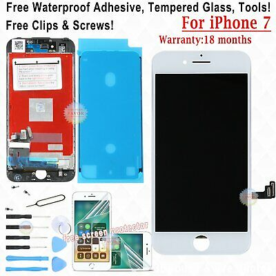 Touch Screen Lcd Display Per Apple Iphone 7 Vetro Schermo Bianco Frame Film Tape