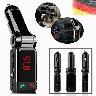 Bluetooth Auto Ladegerät MP3-Player FM Transmitter LED AUX IN Musik Auto KFZ DE
