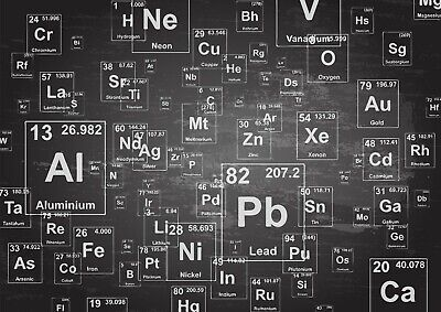 Cool Periodic Table Poster Print Size A4 / A3 Science Elements Poster Gift #8621
