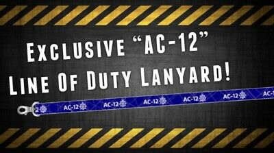 """SPECIAL LIMITED EDITION - """"AC-12"""" - Printed Lanyard - LINE OF DUTY INSPIRED"""