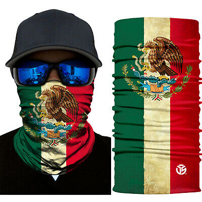 Mexican Flag Neck Gaiter Warmer Balaclava Face Masks Ski Scarf Bandana Fishing
