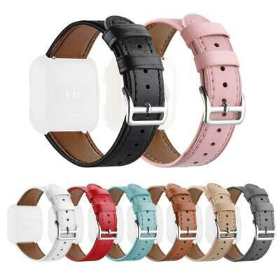 For Fitbit Versa /Lite Fasion Slim Genuine Leather Band Strap Wrist  Bracelet