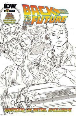 Back to the Future #1 Diamond UK Exclusive Sketch Variant